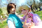 Rapunzel and Flynn Rider by SuiTania