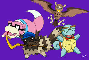 Pokemon Sly Cooper by JoseOmatic