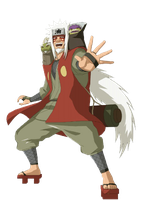 Jiraiya Sage Mode Render by xUzumaki
