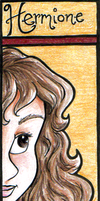 HP Bookmark: Hermione by snow-white-kt