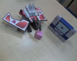 Sound Wave and Laserbeak by aim11