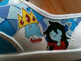Adventure Shoes WIP Simon and Marcy 'Just Bent' by PirateTabby