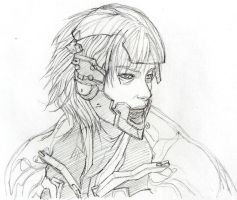 Raiden MGS4 sketch 2 by Kyokinette