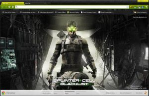 Tom Clancys Splinter Cell Blacklist Chrome Theme by vrkm2003