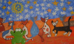 frog and winternight cats by ingeline-art