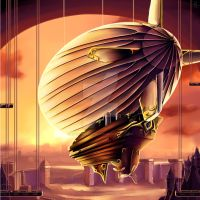 Steampunk Airship 2 by AngelInWutherland