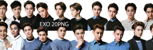 EXO PNG Pack {EXO'LUXION GOODS} by kamjong-kai