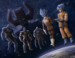 DBZ vs Marvel and DC (WEST vs EAST) by SamDelaTorre