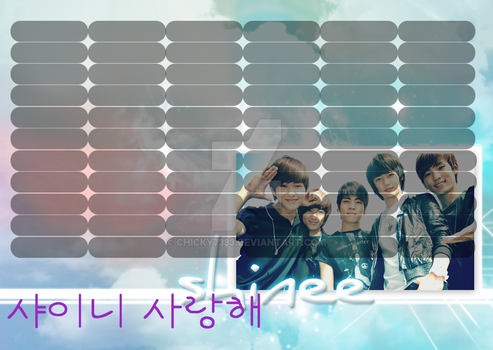 SHINee timetable#4 by chicky7333