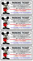 Mickey Mouse Parking Ticket by paradigm-shifting