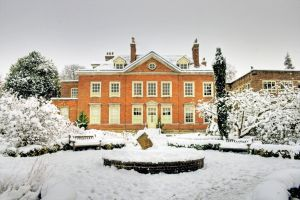Park Building in the Snow by lorni3