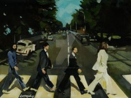 Beatles abbey road by Lorna-Marie