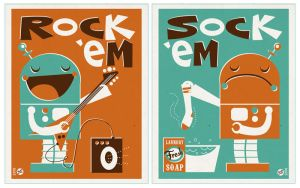 Rock Em Sock Em by Montygog