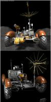 Lunar Rover Model 3D Tests by Hameed