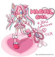 Mimi the Hedgehog Magical Girl Heart Flower by PencilTales