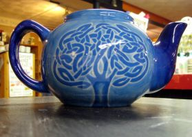 Celtic Tree Teapot by Eseopia