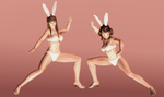 Hitomi and Leifang - Cheeky Bunnies - 04 by HentaiAhegaoLover