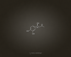 Adrenaline Molecule Denim Wallpaper in Brown by averywebdesign