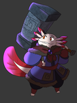Axolotl warrior by Waterdrain
