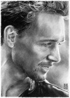 Tom Hiddleston portrait by dmkozicka