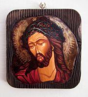 Jesus Christ with the crown of thorns by GalleryZograf