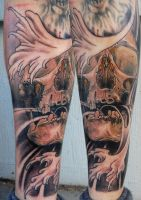 skull wave by tattooneos
