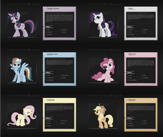 Mane6 - Select Your Weapon : 6 Wallpapers by pims1978