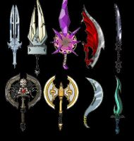 My Dragonfable Weapons by Dreamboy151