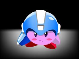 Mega Kirby- Vectorize by master-funk-9000