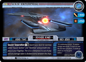 USS Enterprise-D STO CCG Card by CodeGeorge