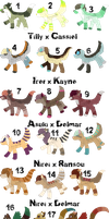 Pair My Breedables Litters 12 - Open by KittehzAdopts