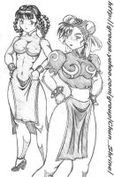 chun li and lei fang by WAINART