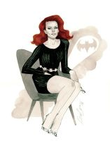 Barbara Gordon - HeroesCon 2014 sketch by kevinwada