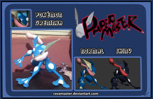 Greninja Papercraft Download by RavaMaster