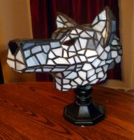 3-Dimensional Wolf Stained Glass Lamp - Picture 2 by mclanesmemories