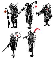 Blood Moon Monk sketches by ARTofANT