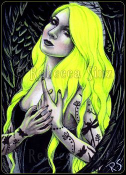 Highlighter Yellow -- ACEO by ElvenstarArt