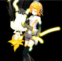 Append Rin and Len Boxart by deoxys90