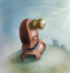 Door handle on the meadow by RealVect0r