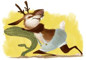 Jackalope--color by betsybauer