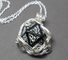 Otherworlds Elven Die Necklace by sojourncuriosities