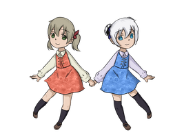 SE - Maka and Kiri by mewmew012
