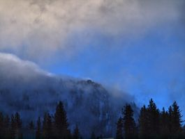 clouds over Diamond Peak by MartinGollery