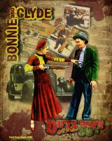 Bonnie and Clyde by kingsley-wallis