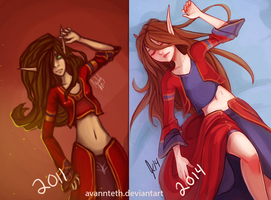 Melody 2011 vs 2014 by AvannTeth