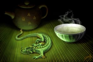 Green Tea Dragon by Gildhartt
