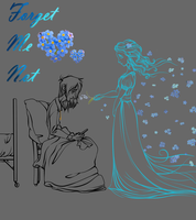 Forget Me Not LineArt by Chrissyissypoo19