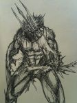 Wolverine sketch by tenchi3488