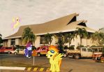 Welcome To the Durian City Airport by RicRobinCagnaan