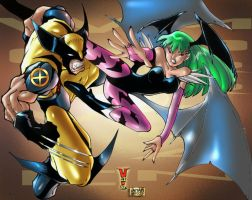 Wolverine VS Morrigan by iANAR